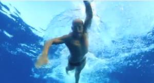 Underwater View of Swimmer in Hawaii