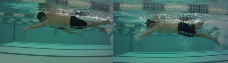 Freestyle Swimming Technique Before & After